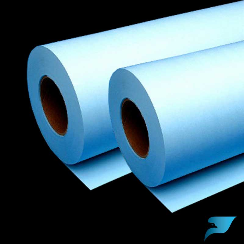 36 in x 500 ft 20 lb blue tinted bond 432b Blue bond paper