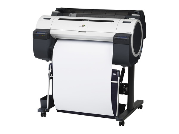 Canon imagePROGRAF iPF670 24 in. Printer 5-Color Bundle w/ Stand