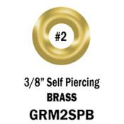 Brass Self-Piercing Grommets, #2, 3/8-in. (500 per bag)