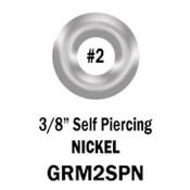 Nickel Self Piercing Gromments #2, 3/8 in.(500 per Bag)