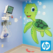 Turtle cartoon on HP Wallpaper