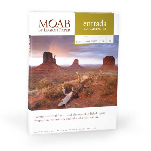 Moab Chinle Ice Nine Entrada Rag Natural Portfolio Kit 190 gsm