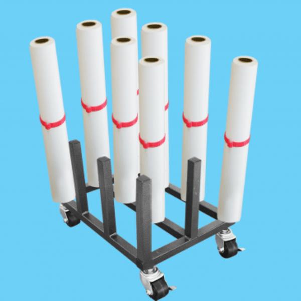 MR12 Heavy Duty Mobile Floor Rack - 12 Roll Capacity