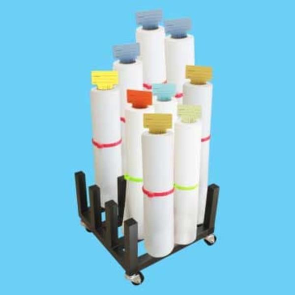 MR16 Heavy Duty Mobile Floor Rack - 16 Roll Capacity