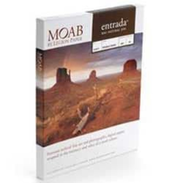 13 in. x 19 in. Moab Entrada Rag Natural 300 gsm (double-sided) (25 Sheets)