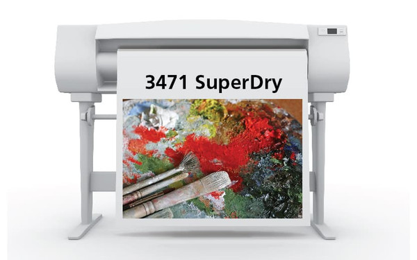 Sihl 3471 SuperDry Satin Grayback Roll-Up Film, 7.5 mil